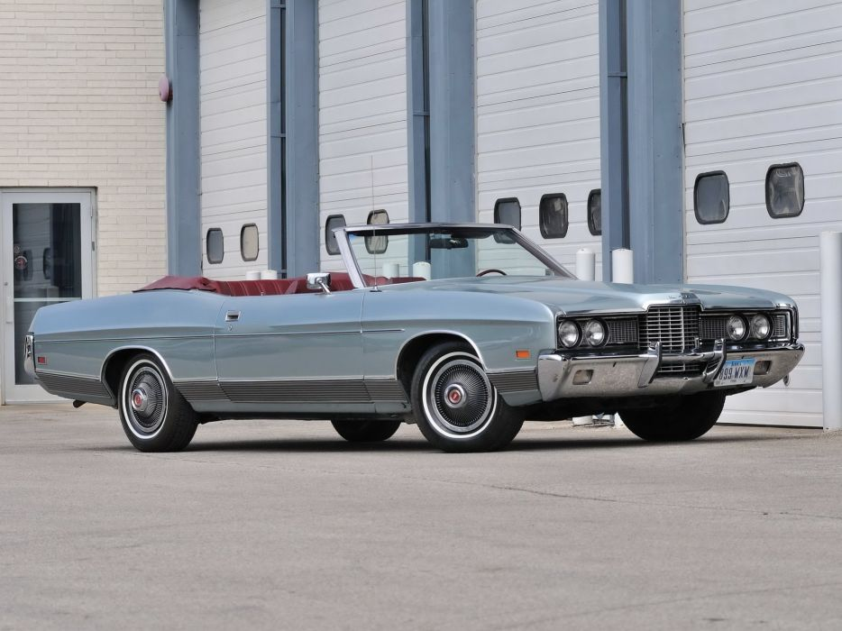 1972 Ford LTD Convertible (76H) luxury retro  d wallpaper