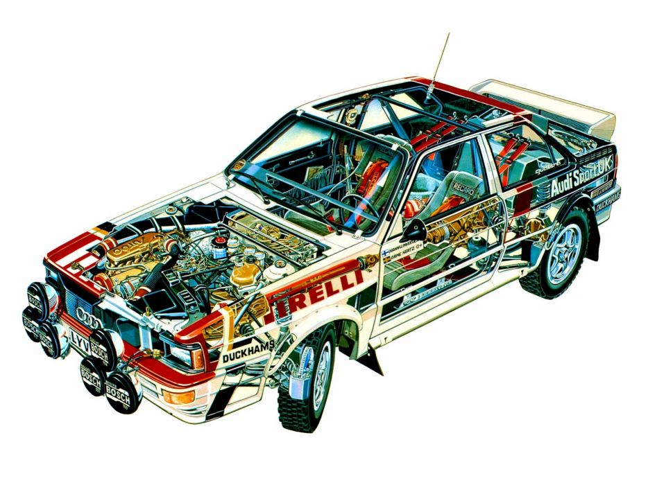 1981 Audi quattro Group-4 Rally Car (Typ-85) race racing interior engine        g wallpaper