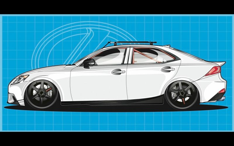 2014 Lexus IS AWD by Gordon Ting tuning i-s fs wallpaper