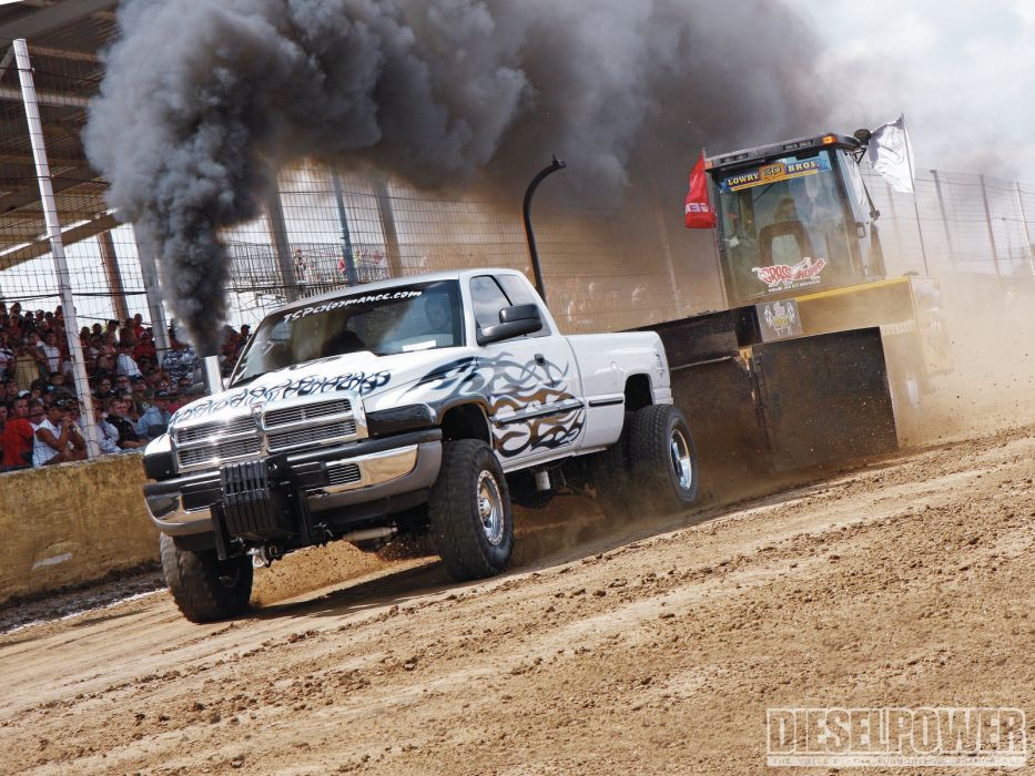 TRACTOR-PULLING race racing hot rod rods tractor dodge ram pickup 4x4       f wallpaper