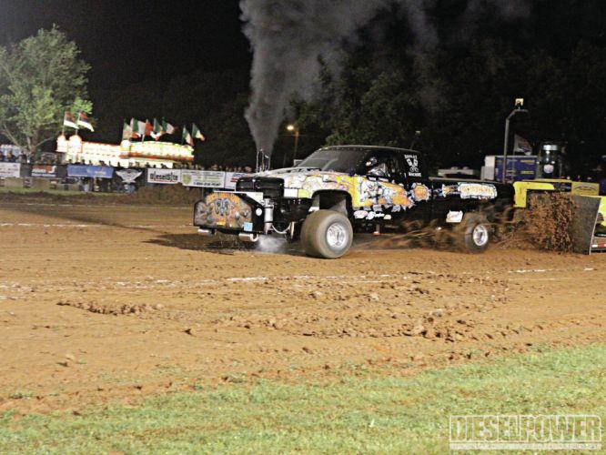 TRACTOR-PULLING race racing hot rod rods tractor dodge ram pickup 4x4 g wallpaper
