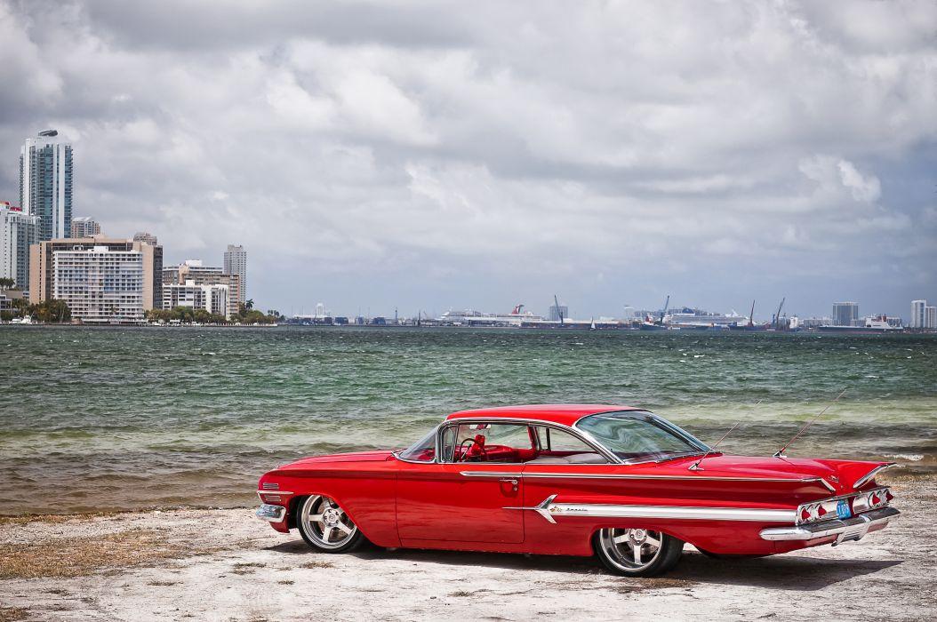 Wheels Boutique & HRE Wheels 1960 Chevy Impala wallpaper
