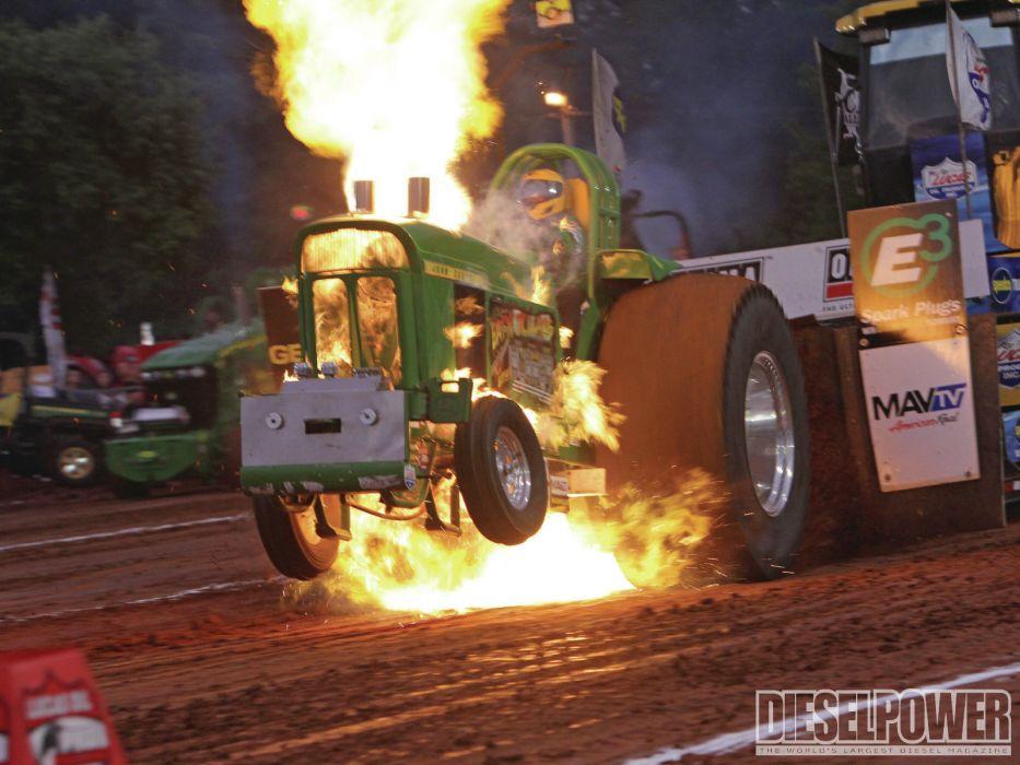 TRACTOR-PULLING race racing hot rod rods tractor john deere fire     f wallpaper