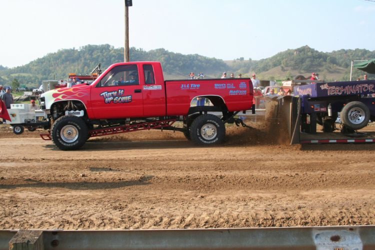TRACTOR-PULLING race racing hot rod rods tractor pickup 4x4 g_JPG wallpaper
