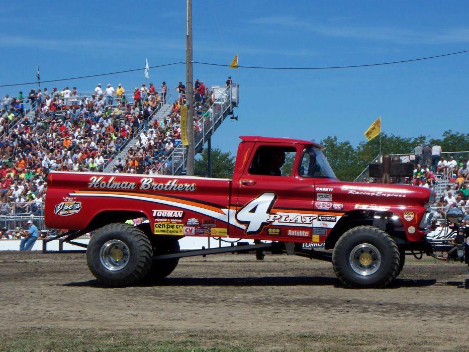 TRACTOR-PULLING race racing hot rod rods tractor pickup 4x4    u_JPG wallpaper