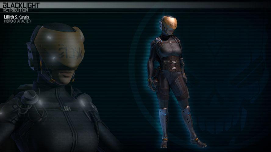 BLACKLIGHT RETRIBUTION sci-fi game fw wallpaper