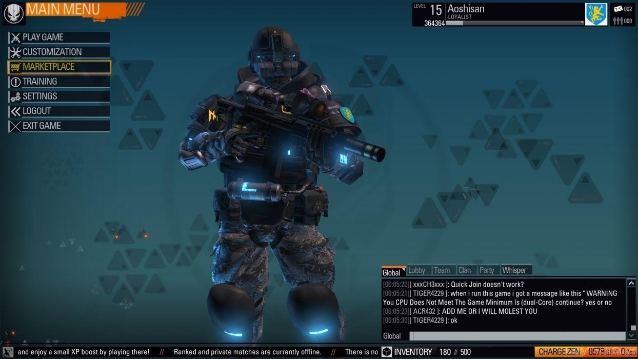 BLACKLIGHT RETRIBUTION sci-fi game warrior   jr wallpaper