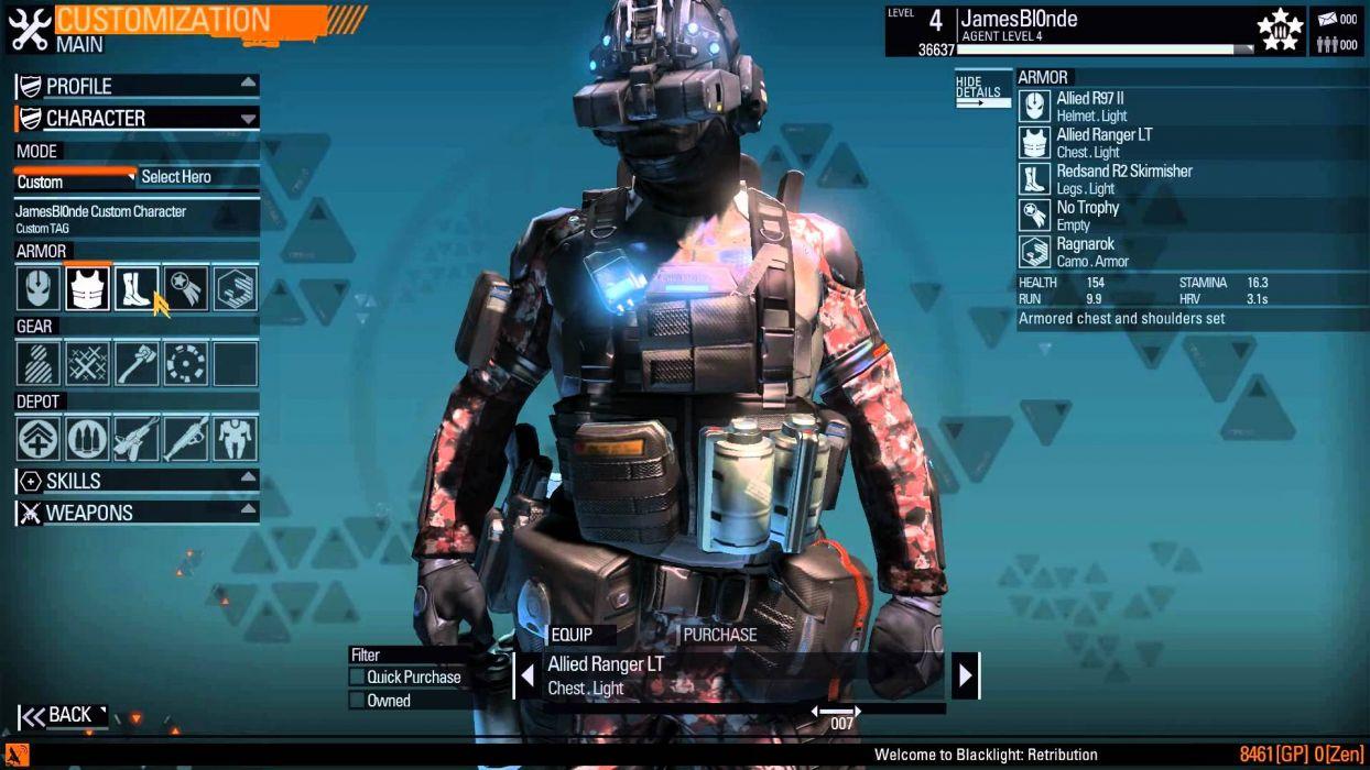 BLACKLIGHT RETRIBUTION sci-fi game warrior   u wallpaper