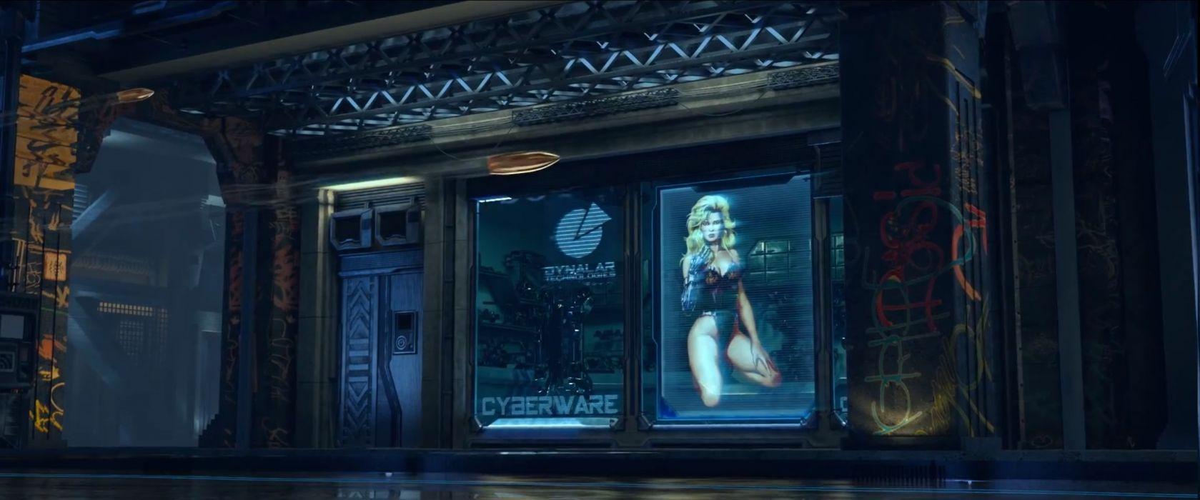 CYBERPUNK sci-fi game   f wallpaper