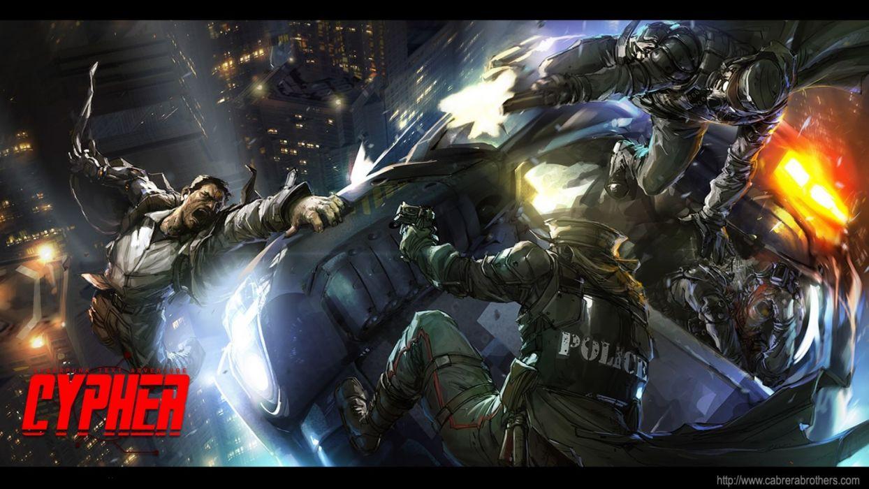 CYBERPUNK sci-fi game battle      f wallpaper