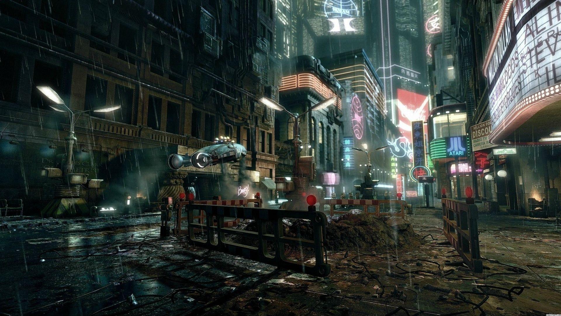 CYBERPUNK Sci-fi Game City F Wallpaper