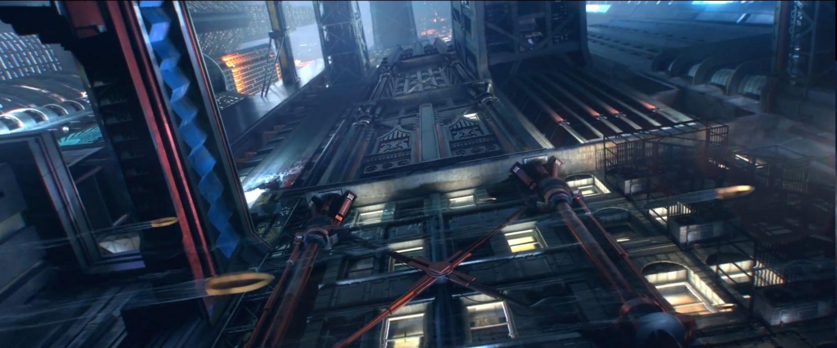 CYBERPUNK sci-fi game city     h wallpaper