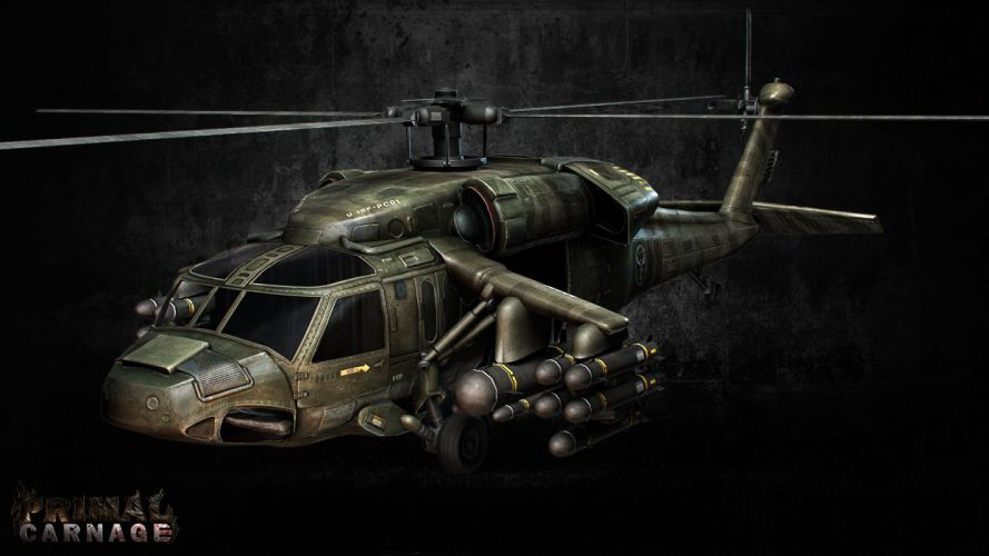 PRIMAL CARNAGE fantasy helicopter military h wallpaper