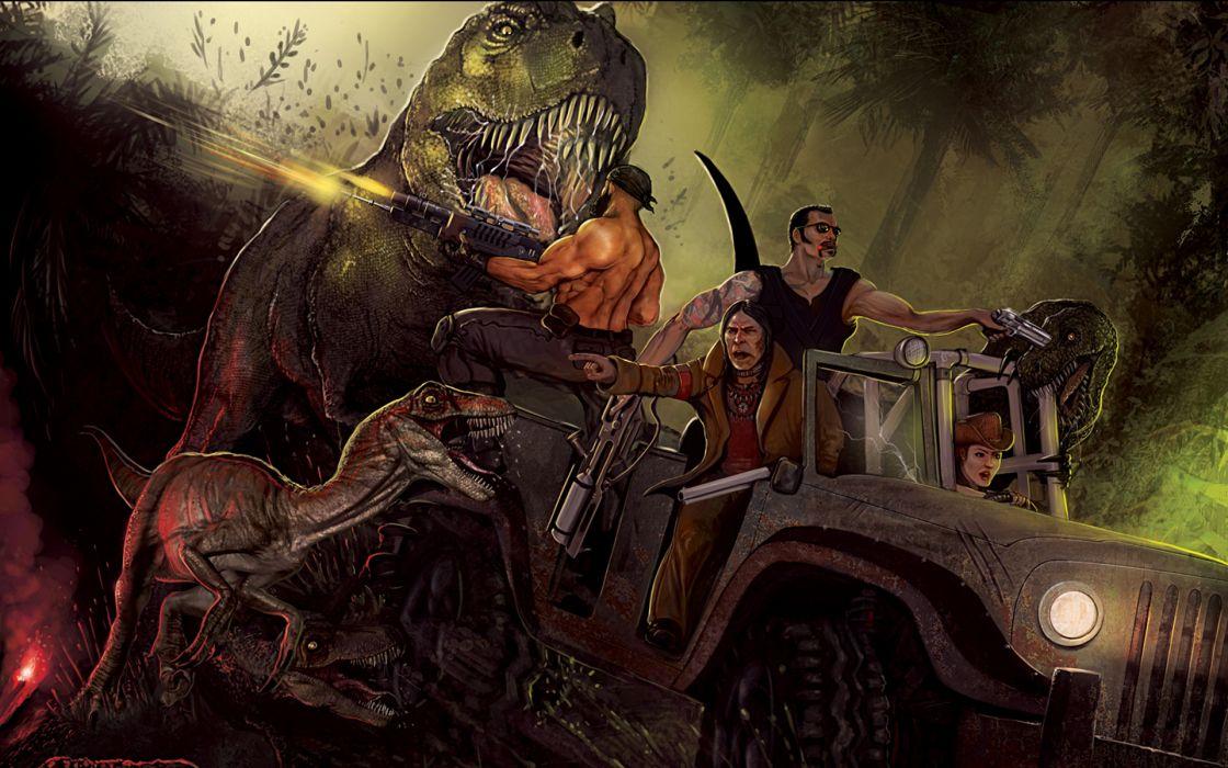 PRIMAL CARNAGE sci-fi fantasy   y wallpaper