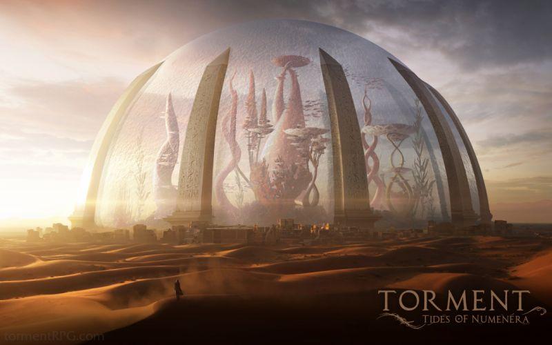 TORMENT TIDES OF NUMENERA fantasy game sci-fi city g wallpaper