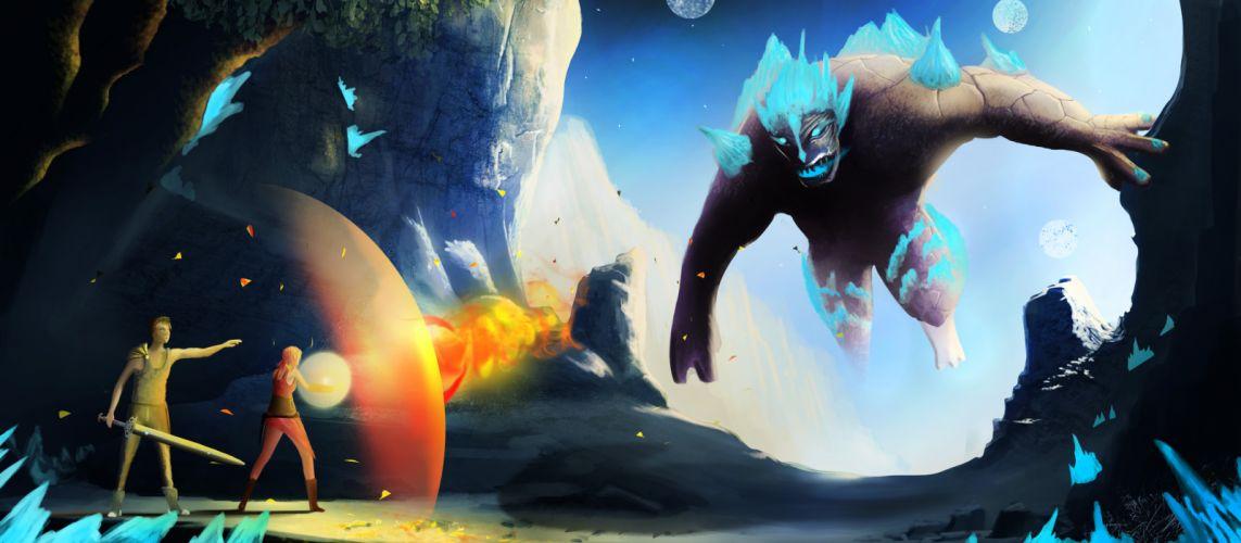 Edge Of Eternity fantasy sci-fi game warrior battle magic j wallpaper