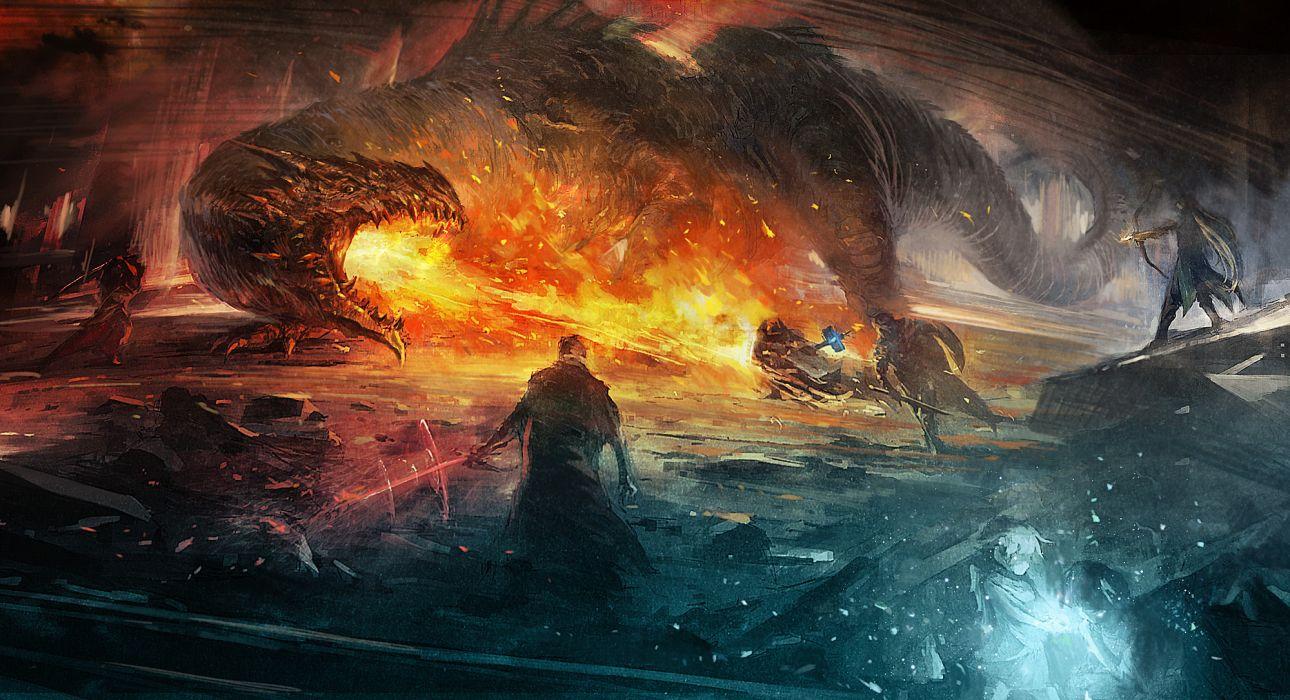 PROJECT PHOENIX fantasy anime game battle warrior dragon     h wallpaper