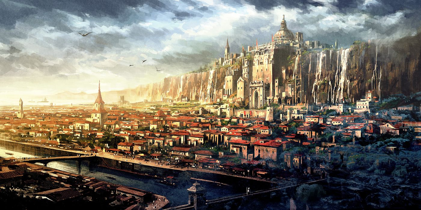 PROJECT PHOENIX fantasy anime game city    h wallpaper