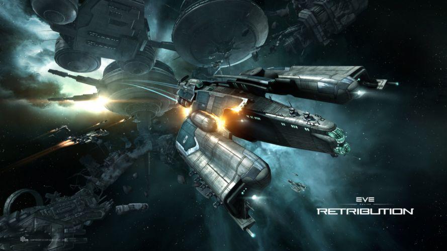 EVE ONLINE sci-fi game spaceship f wallpaper