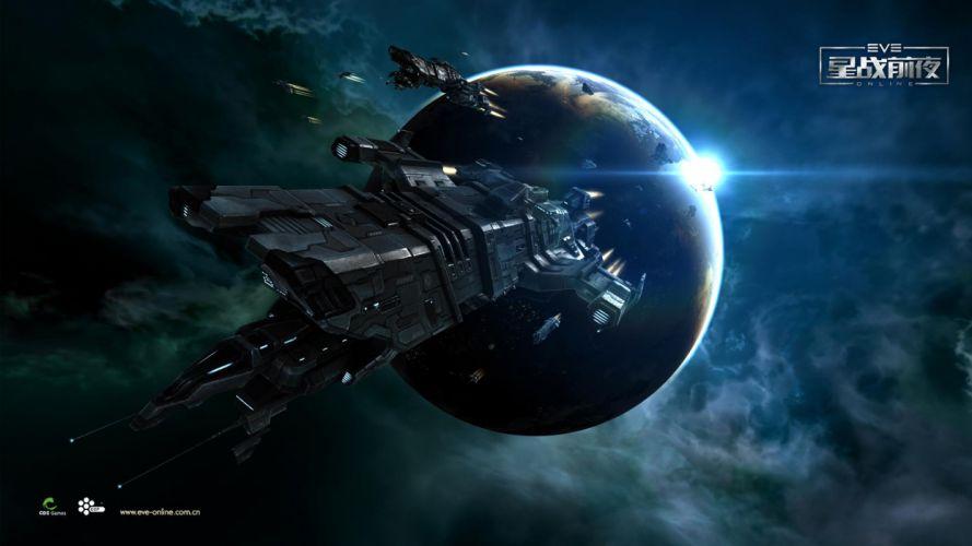 EVE ONLINE sci-fi game spaceship h wallpaper