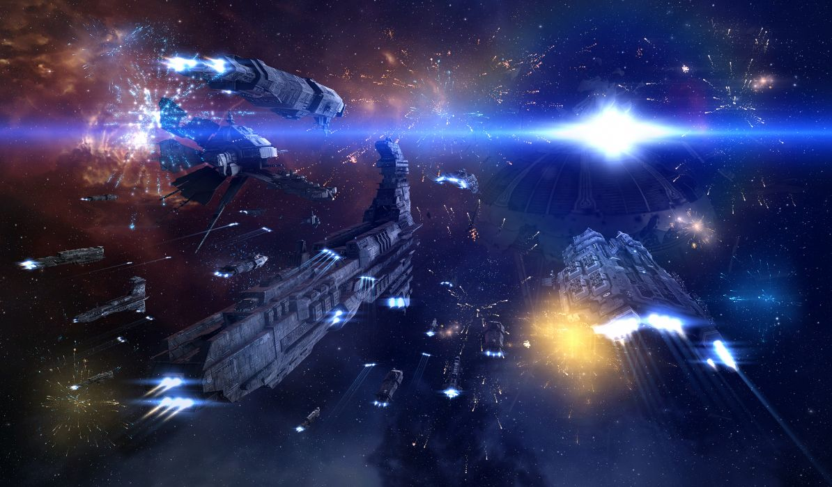 EVE ONLINE sci-fi game spaceship        hr wallpaper