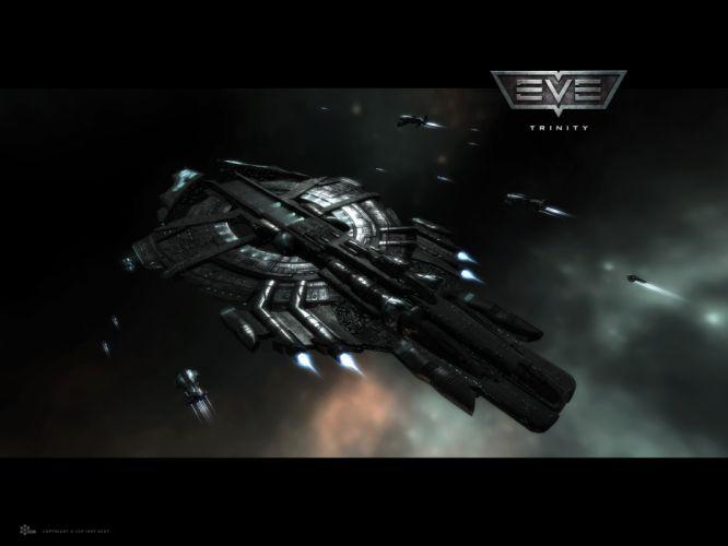 EVE ONLINE sci-fi game spaceship hr wallpaper