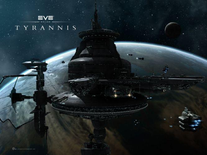 EVE ONLINE sci-fi game spaceship y4 wallpaper