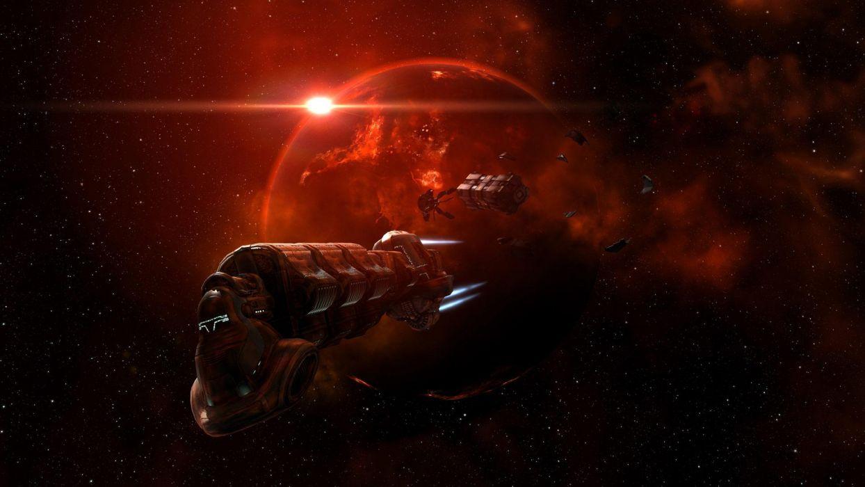 EVE ONLINE sci-fi game spaceship    rw wallpaper