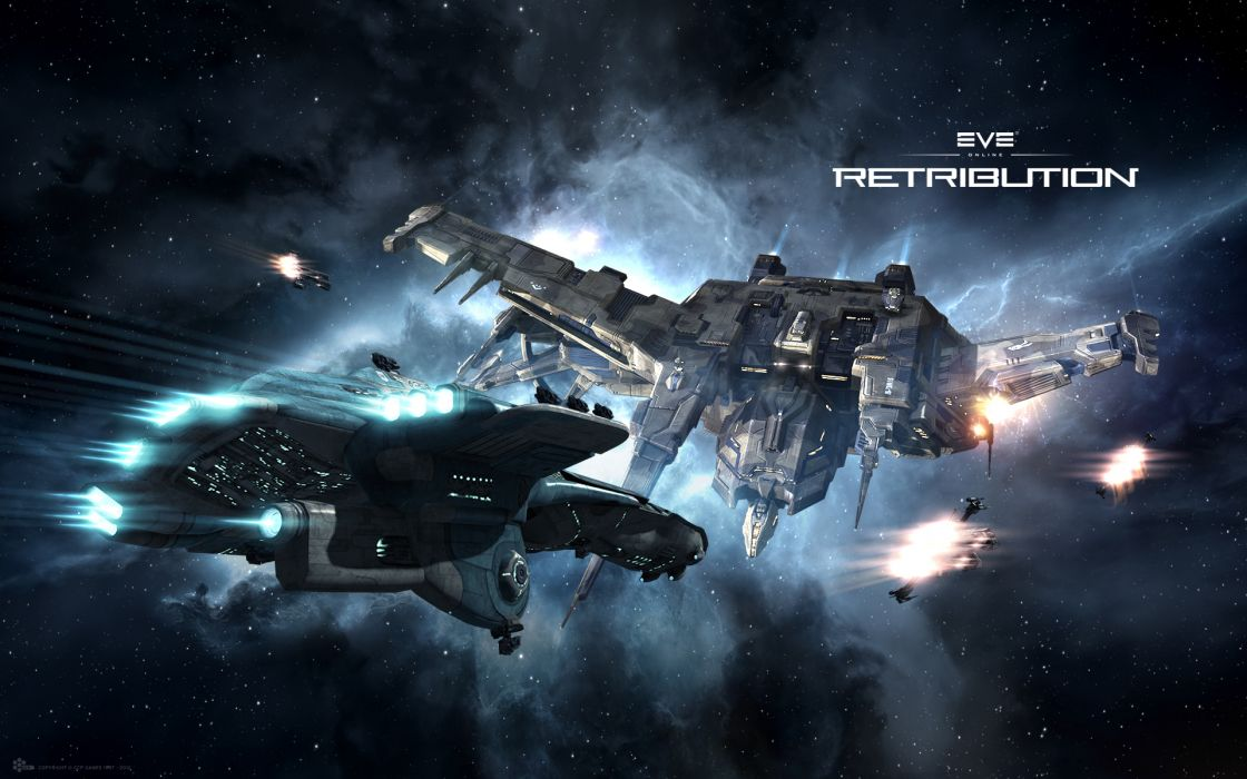 EVE ONLINE sci-fi game spaceship    tw wallpaper