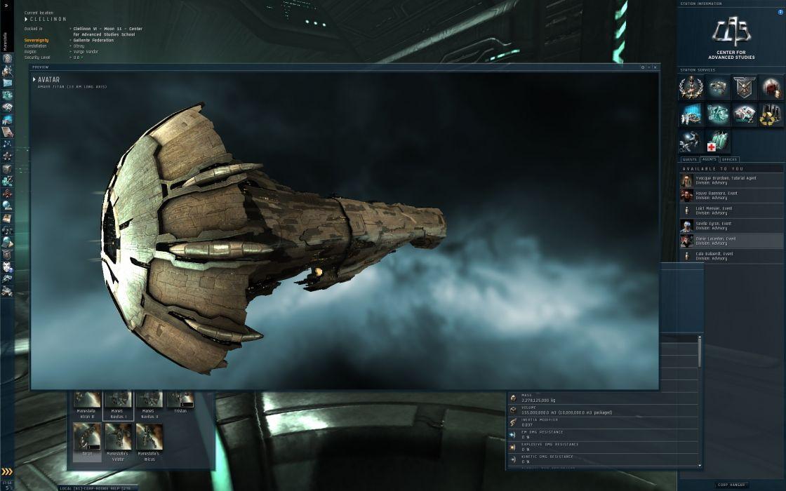 EVE ONLINE sci-fi game spaceship    yt wallpaper