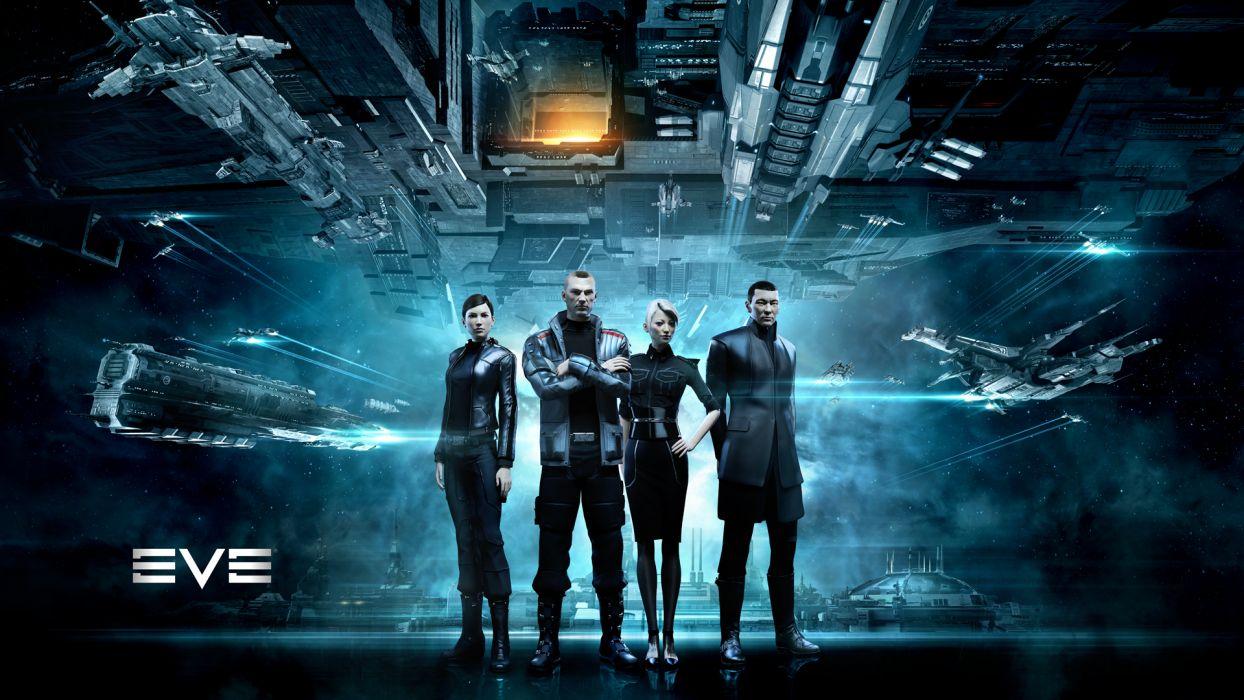 EVE ONLINE sci-fi game spaceship    gg wallpaper