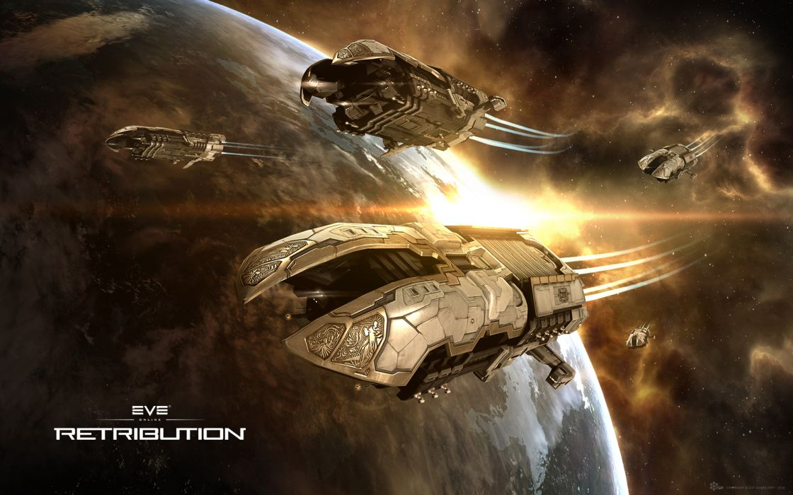 EVE ONLINE sci-fi game spaceship  tw wallpaper