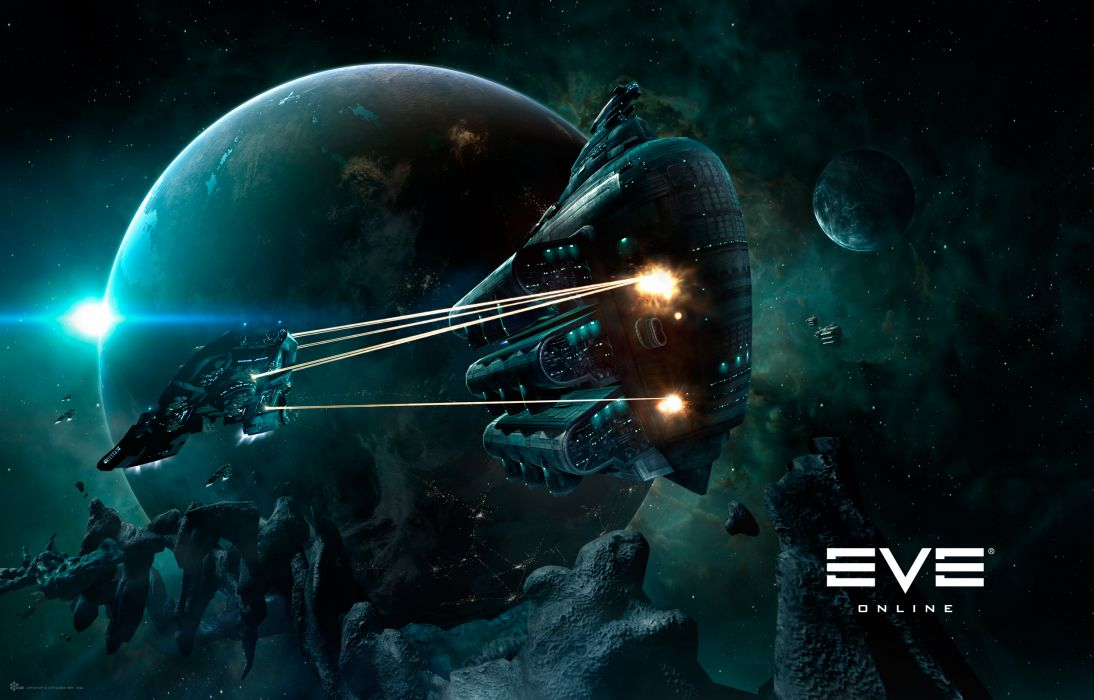 EVE ONLINE sci-fi game spaceship battle        h wallpaper