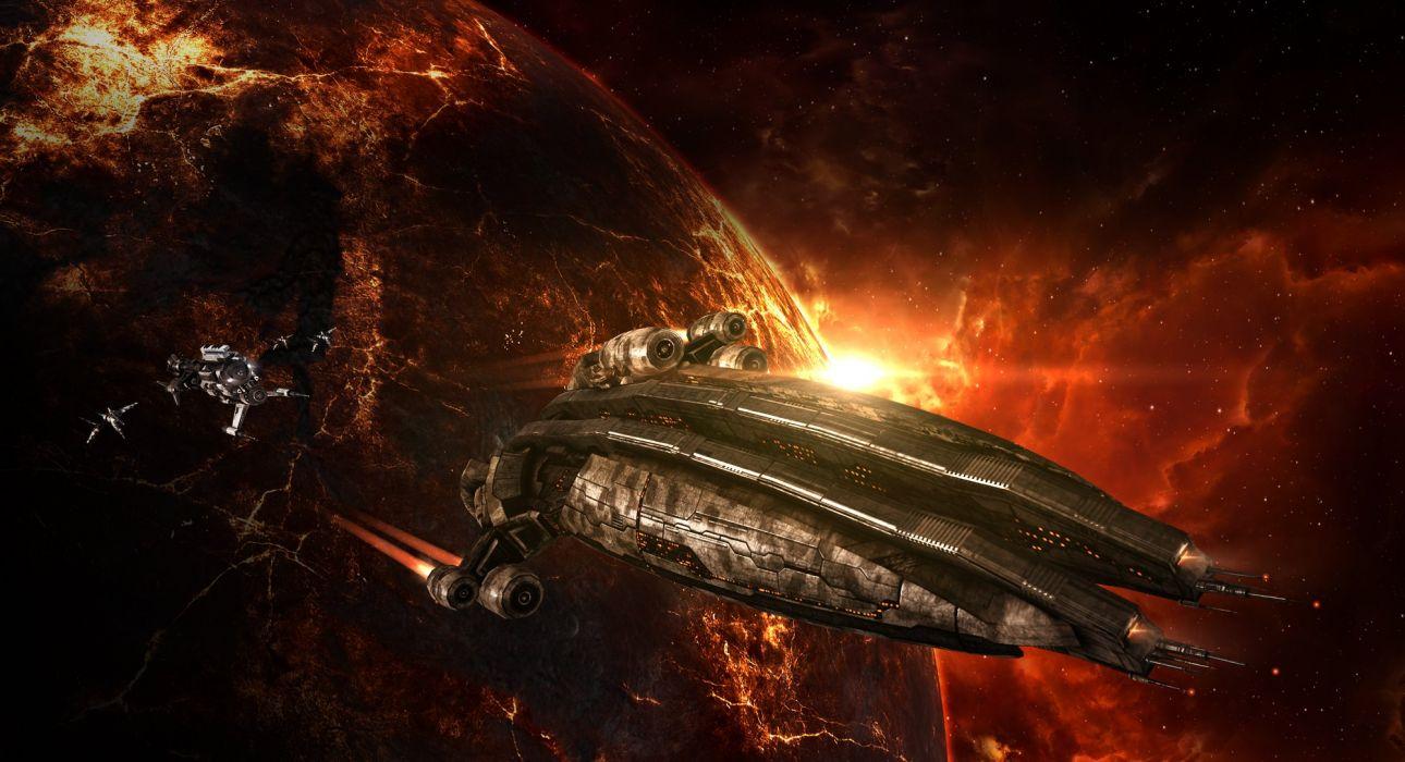 EVE ONLINE sci-fi game spaceship space   y wallpaper