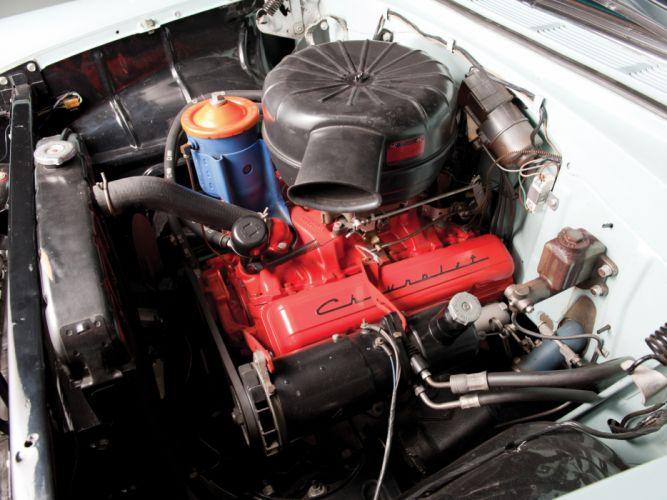 1955 Chevrolet Bel Air Convertible (2434-1067D) retro engine h wallpaper