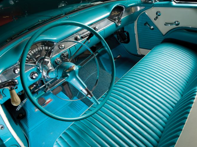 1955 Chevrolet Bel Air Convertible (2434-1067D) retro interior y wallpaper