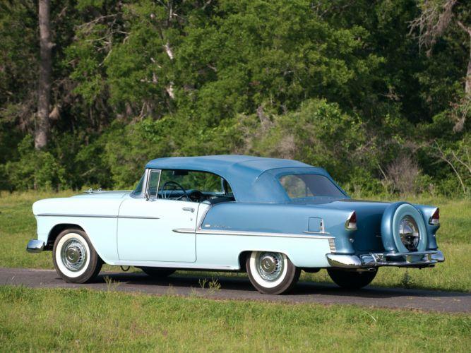 1955 Chevrolet Bel Air Convertible (2434-1067D) retro wallpaper