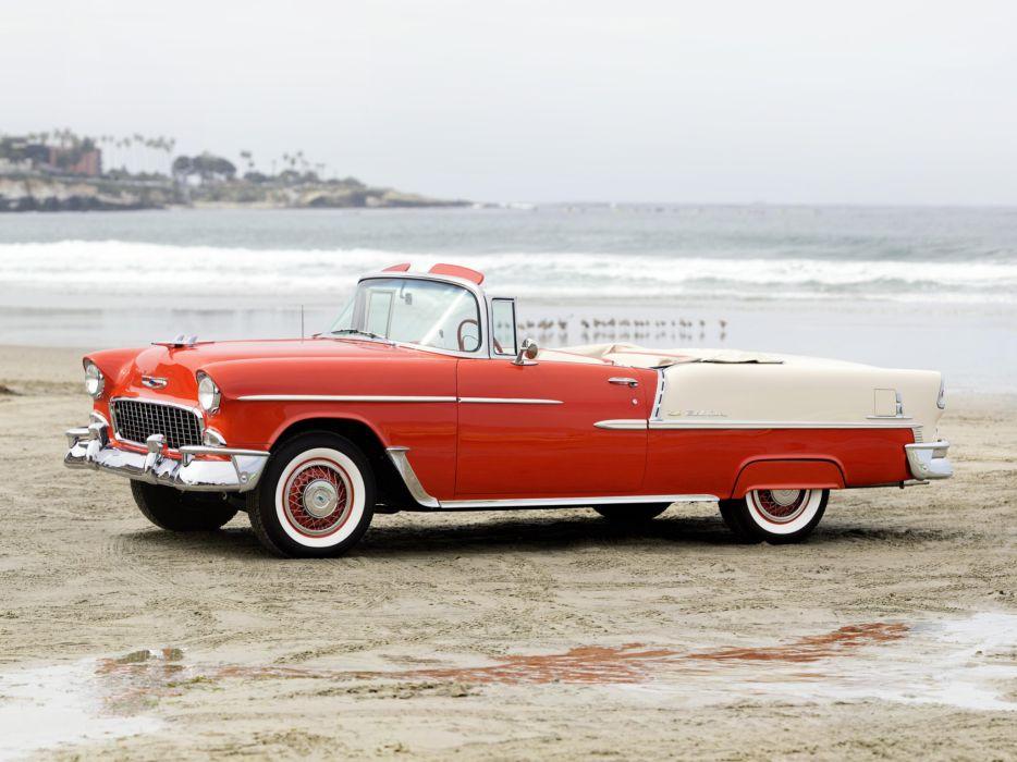 1955 Chevrolet Bel Air Convertible (2434-1067D) retro t wallpaper