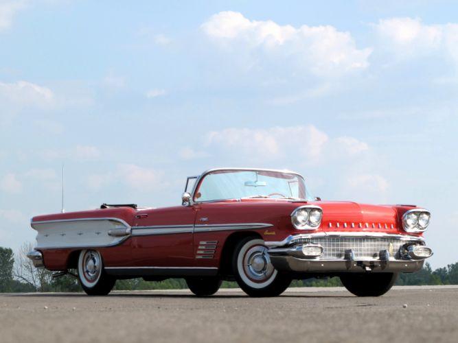 1958 Pontiac Bonneville Custom Convertible (2567SD) h wallpaper