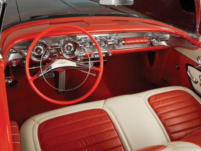 1958 Pontiac Bonneville Custom Convertible (2567SD) interior f wallpaper