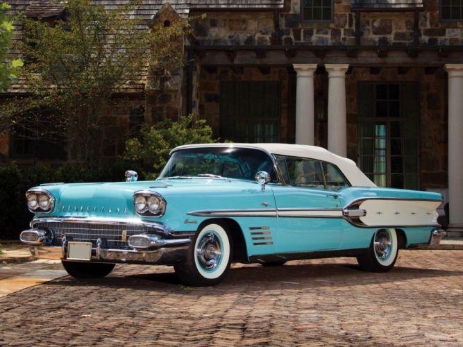 1958 Pontiac Bonneville Custom Convertible (2567SD) y wallpaper