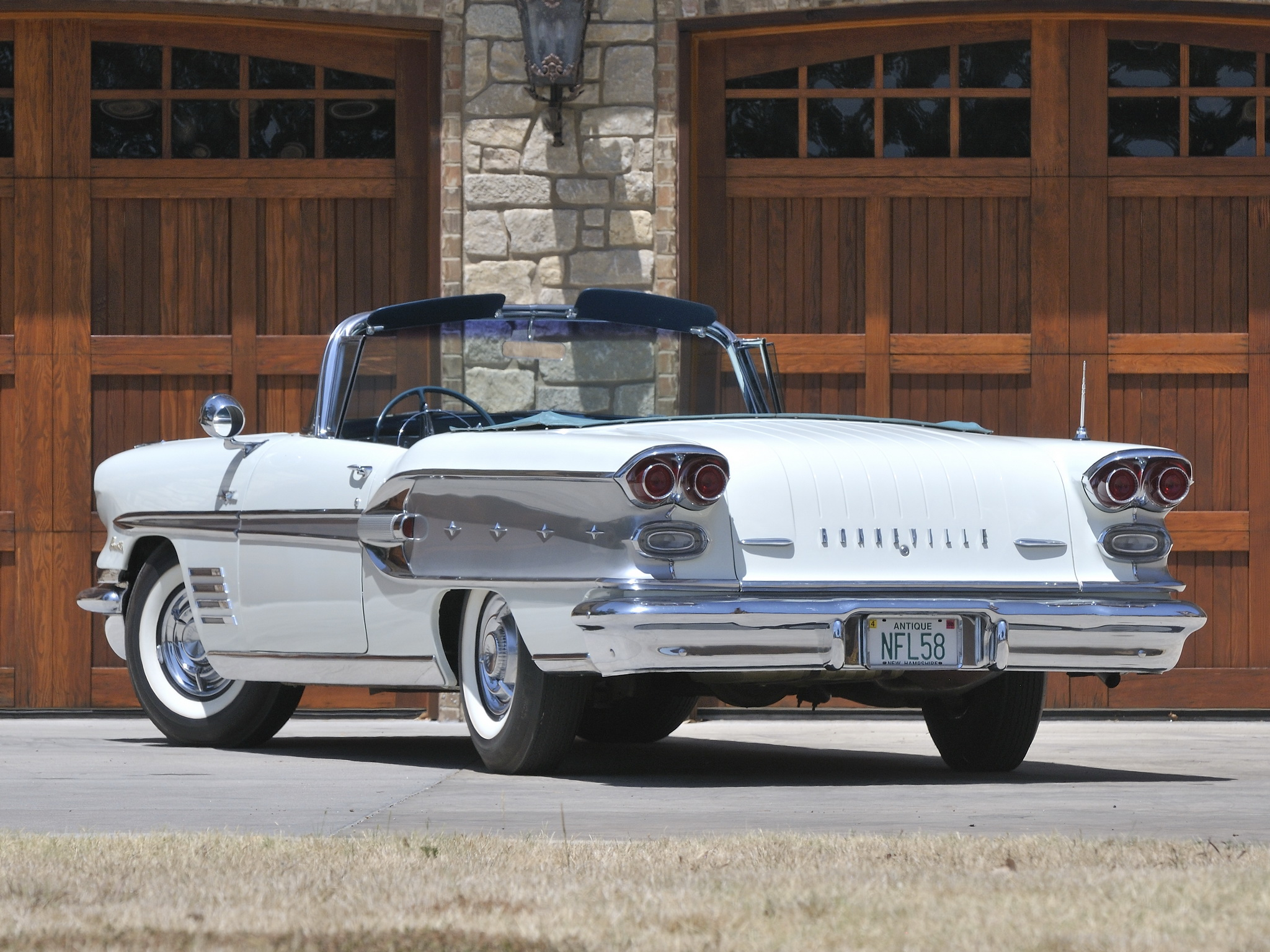1958 Pontiac Bonneville Custom Convertible 2567sd E