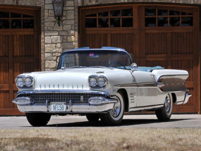 1958 Pontiac Bonneville Custom Convertible (2567SD) f wallpaper