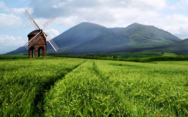 field mill landscape wallpaper
