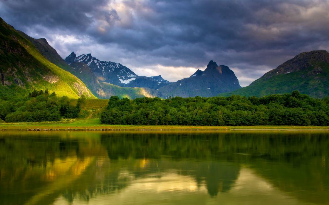 lake sky mountains landscape wallpaper
