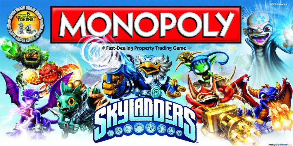 SKYLANDERS cartoon game monopoly wallpaper