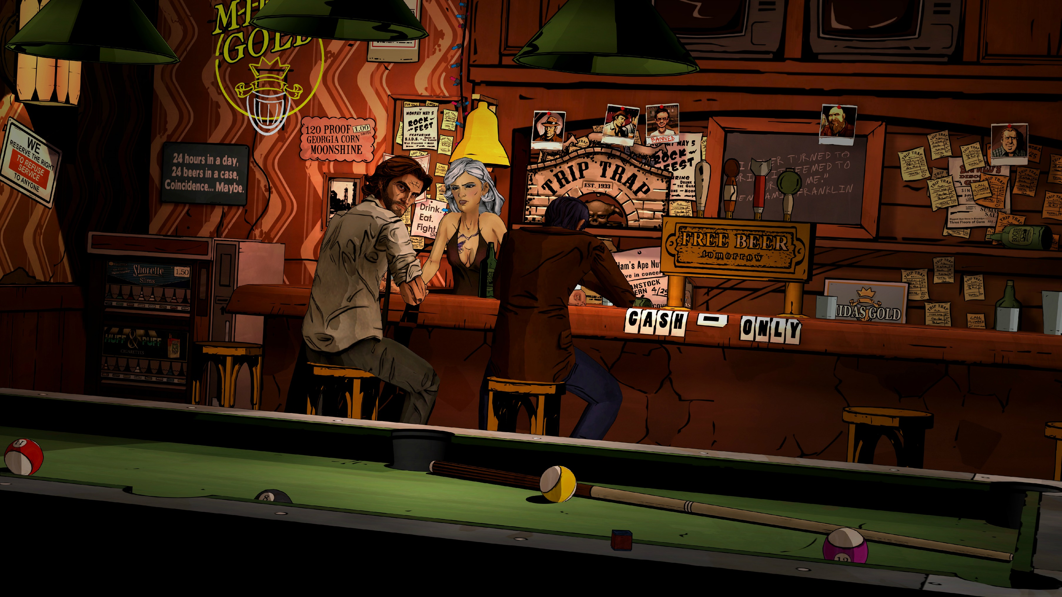The wolf among us game bar d wallpaper 3612x2032 for Lounge wallpaper