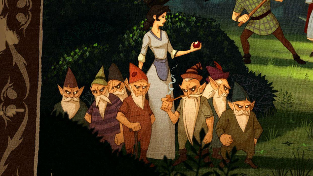 THE WOLF AMONG US game dark fantasy snow white     g wallpaper