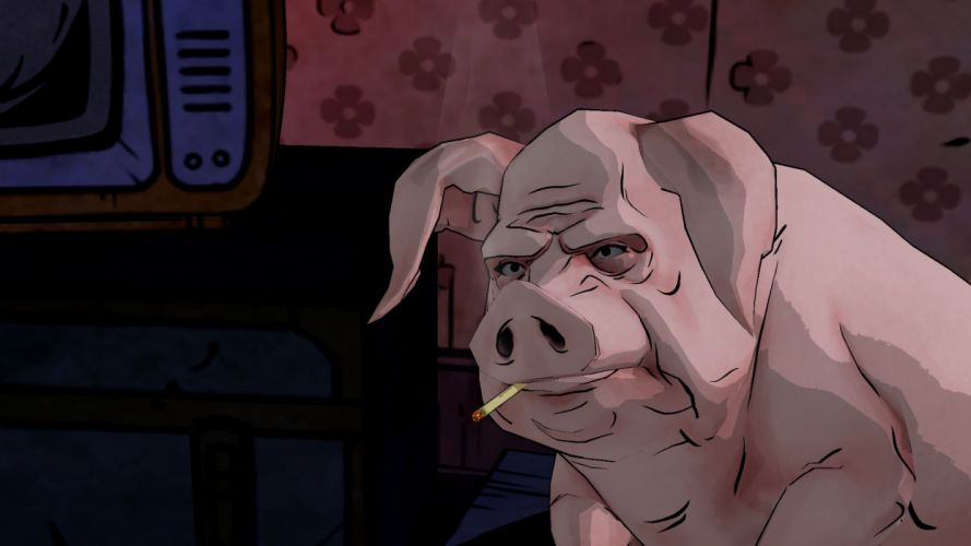 THE WOLF AMONG US game pig f wallpaper