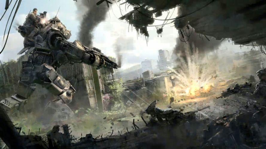 TITANFALL sci-fi game mecha battle t wallpaper